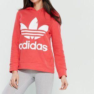 ADIDAS  Core Pink Trefoil Logo Hoodie XL